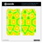 Modelo abstracto verde y amarillo skins para LG optimus 2X