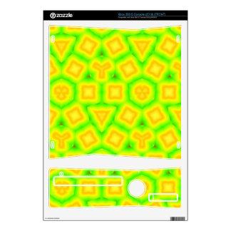 Modelo abstracto verde y amarillo xbox 360 s skins