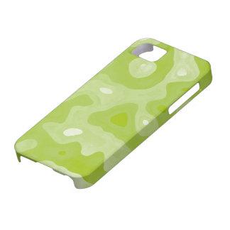 Modelo abstracto verde y blanco de la primavera iPhone 5 Case-Mate fundas
