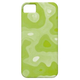 Modelo abstracto verde y blanco de la primavera iPhone 5 Case-Mate funda