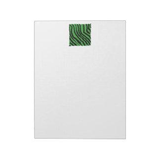 Modelo abstracto verde y negro de la selva blocs de papel