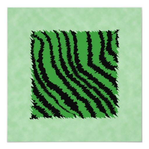 Modelo abstracto verde y negro de la selva comunicado personalizado