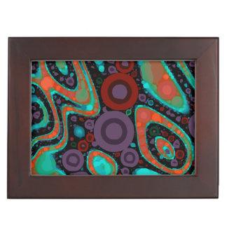 Modelo abstracto vibrante hermoso de Swirly Caja De Recuerdos