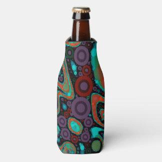 Modelo abstracto vibrante hermoso de Swirly Enfriador De Botellas