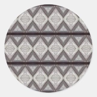 Modelo aburrido abstracto pegatina redonda