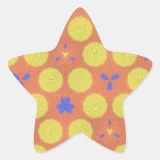 modelo aburrido colorido pegatina en forma de estrella