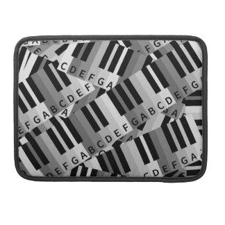 Modelo acodado llaves del piano funda para macbook pro