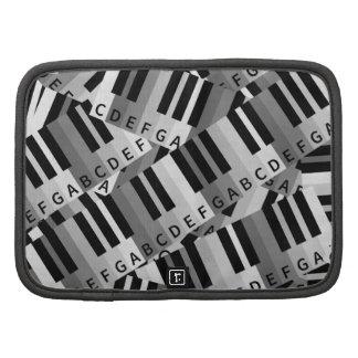 Modelo acodado llaves del piano organizadores