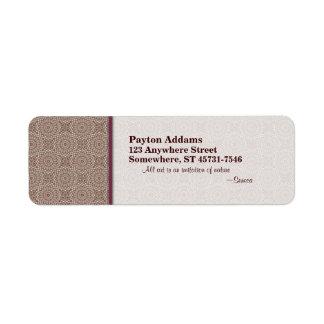 Modelo acolchado 2 de la comodidad - etiqueta del  etiquetas de remite