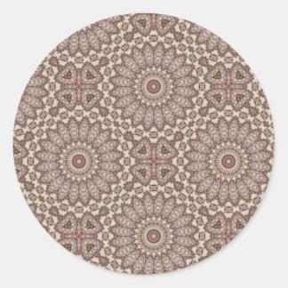 Modelo acolchado 2 del arte de la comodidad - pegatina redonda