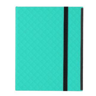 Modelo acolchado azul de la aguamarina de Tiffany iPad Coberturas