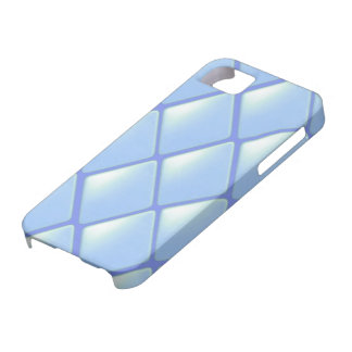 Modelo acolchado azul del diamante iPhone 5 fundas