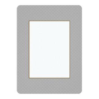 """Modelo acolchado de la plata esterlina invitación 5.5"""" x 7.5"""""""