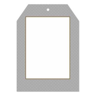 """Modelo acolchado de la plata esterlina invitación 5"""" x 7"""""""