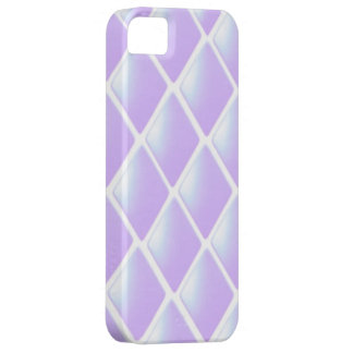 Modelo acolchado púrpura del diamante iPhone 5 fundas
