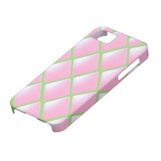 Modelo acolchado rosa del diamante iPhone 5 carcasas