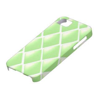 Modelo acolchado verde del diamante iPhone 5 fundas