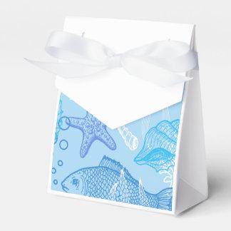 Modelo acuático de la vida cajas para regalos de fiestas