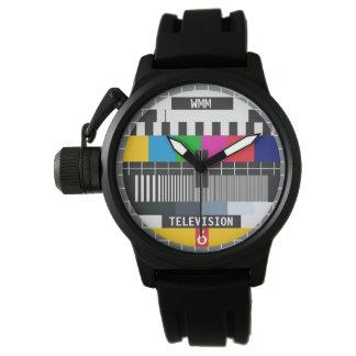Modelo adaptable de la tarjeta TV de la prueba Reloj