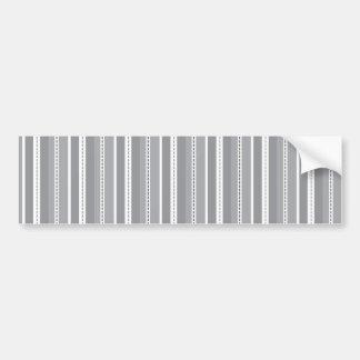 Modelo adaptable gris del boda de las rayas vertic etiqueta de parachoque