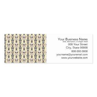 Modelo adorable de los pequeños búhos en amarillo plantilla de tarjeta de negocio