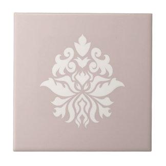 Modelo adornado del damasco - crema en rosa azulejo cuadrado pequeño