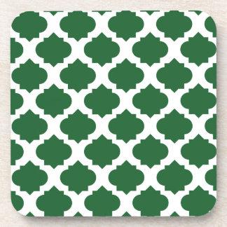 Modelo adornado verde posavaso
