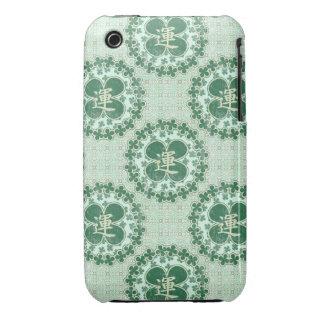 Modelo afortunado de la verde menta iPhone 3 protector