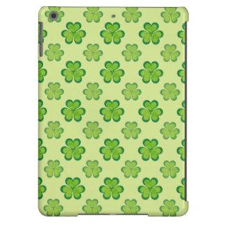 Modelo afortunado verde elegante del trébol del funda para iPad air