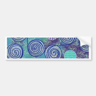 Modelo africano azul de la cera del teñido anudado pegatina para auto
