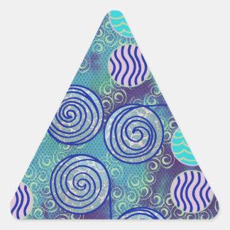 Modelo africano azul de la cera del teñido anudado colcomanias trianguladas