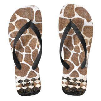 Modelo africano de la jirafa chanclas