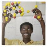Modelo africano de la molécula de la visión del ad azulejo ceramica
