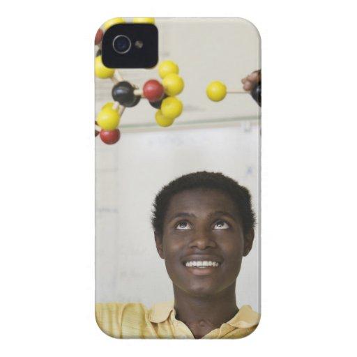 Modelo africano de la molécula de la visión del ad iPhone 4 Case-Mate fundas
