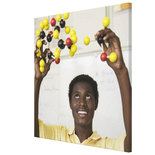 Modelo africano de la molécula de la visión del ad impresion de lienzo