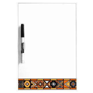 Modelo africano del arte pizarra blanca