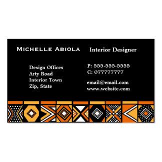 Modelo africano del arte tarjetas de visita