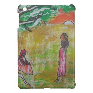 Modelo africano del batik de la puesta del sol iPad mini coberturas