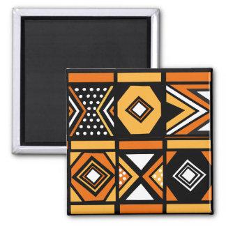 Modelo africano imán cuadrado