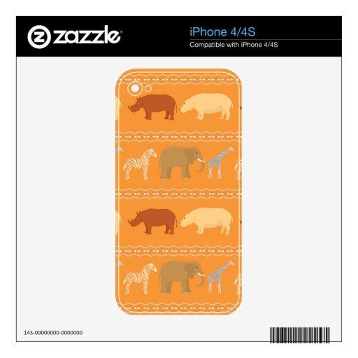 Modelo africano iPhone 4S calcomanía