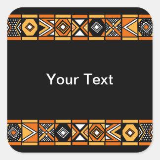 Modelo africano pegatina cuadrada