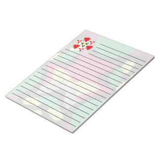 Modelo agradable colorido moderno bloc de notas