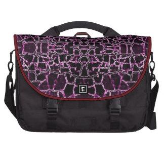 Modelo agrietado púrpura bolsas para portatil