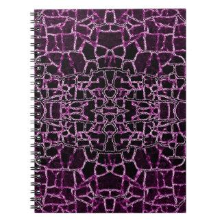 Modelo agrietado púrpura libreta