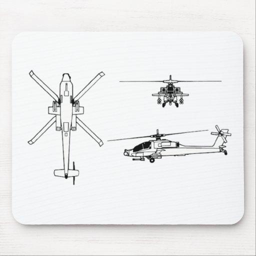 Modelo AH-64 Alfombrillas De Ratón
