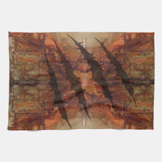 Modelo aherrumbrado del rasgón de la garra del toalla