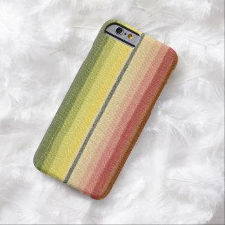 Modelo al sudoeste rayado del arco iris retro funda barely there iPhone 6