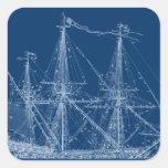 Modelo alto azul del velero colcomanias cuadradases