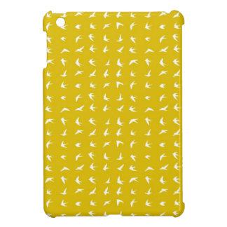 Modelo amarillo 1 del pájaro iPad mini fundas
