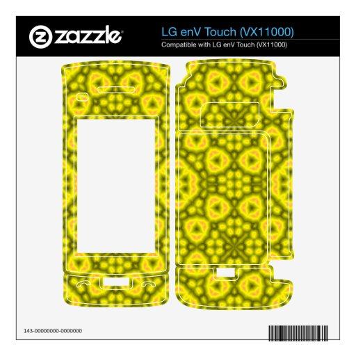 Modelo amarillo abstracto calcomanías para LG enV touch
